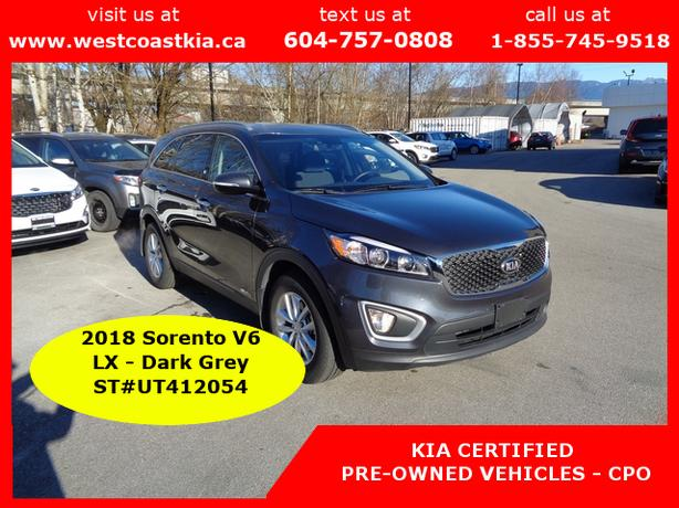 2018 Kia Sorento LX V6 | 7 Passenger | 4x4 | AWD | Trailer up to 5000 lbs