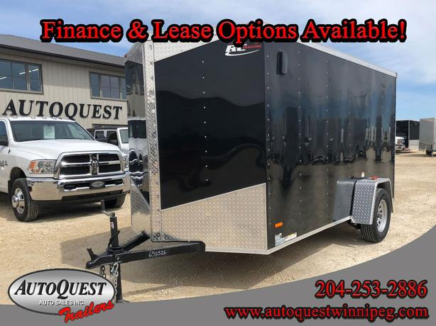 "2019 RC 6' x 12' x 72"" V-Nose Cargo Trailer - 2 990 lbs, Ramp Door"