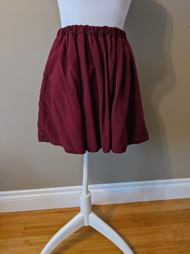 Brandy Melville Wine Red Cute Basic Skirt