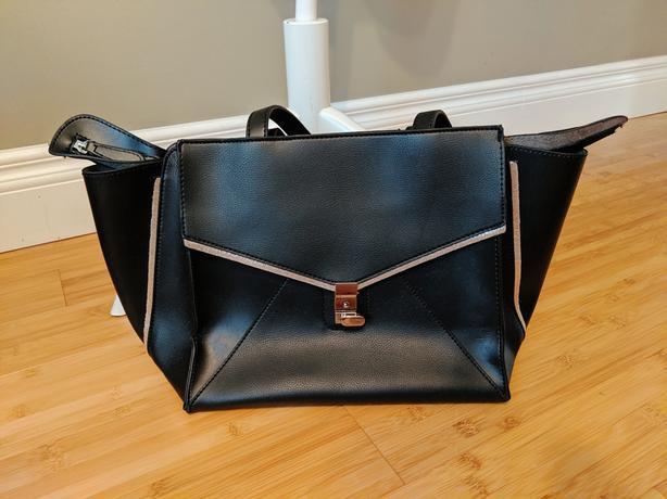 Black A4 Office Shoulder Crossbody Bag