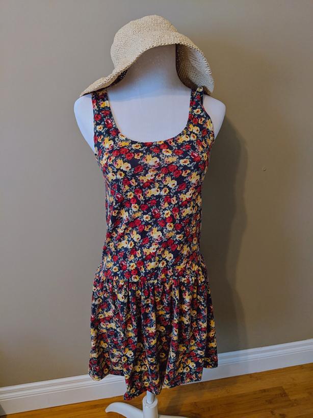 Floral Cotton Swing Dress