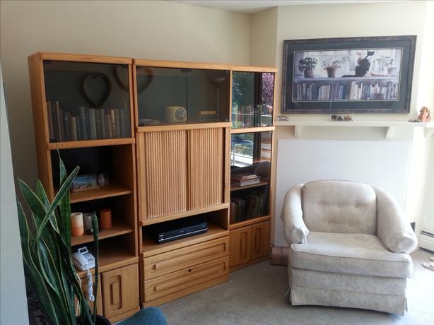 FREE Solid Oak Entertainment Centre in 3 sections