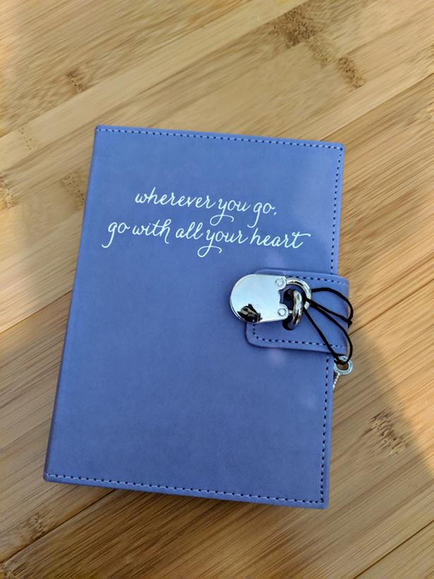 Brand New Lined Notebook with Lock