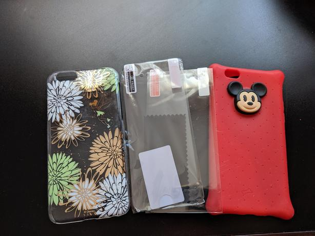 Cute iphone 6-8 cases & screen protector