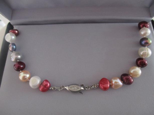 Colorful Freshwater Cultured Pearl Necklace