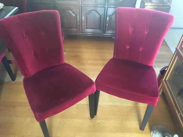 Marvelous Log In Needed 75 Red Velvet Dining Room Chairs Uwap Interior Chair Design Uwaporg