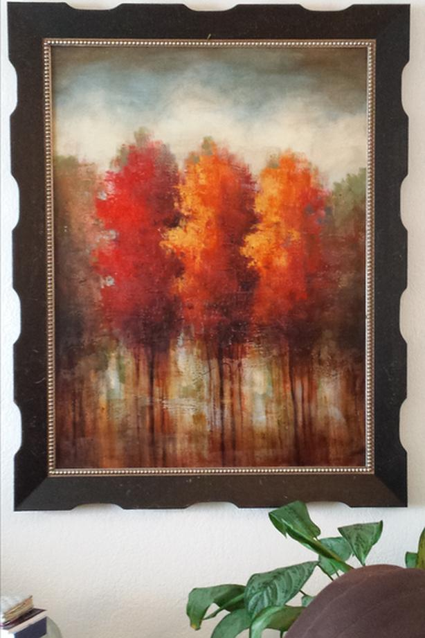 REDUCED Beautiful Autumn Trees Abstract Picture from Bombay Company