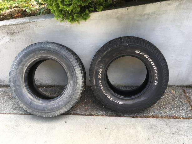285 70 R17 BF Goodrich All terrain TA tires