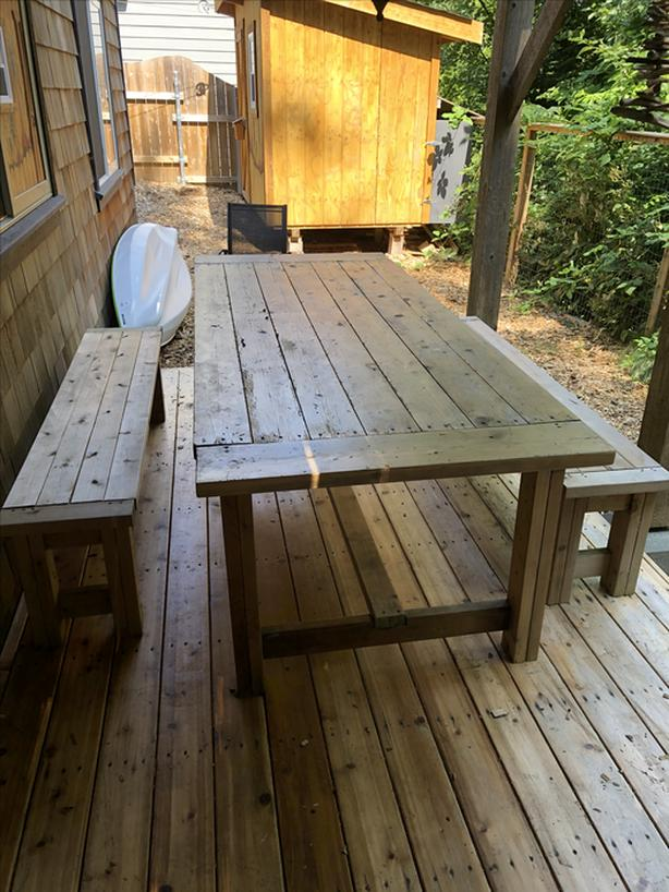 Prime Log In Needed 250 Cedar Farm Table And Benches Andrewgaddart Wooden Chair Designs For Living Room Andrewgaddartcom