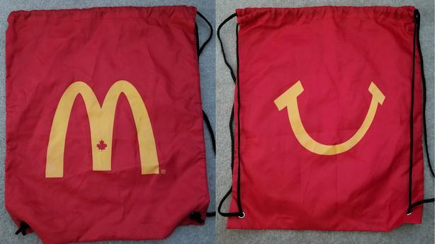 McDonalds draw string bag