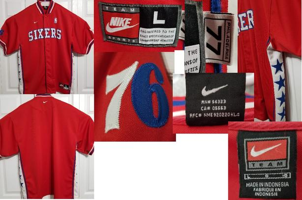 Sixers Warm Up Nike Shooting Jersey