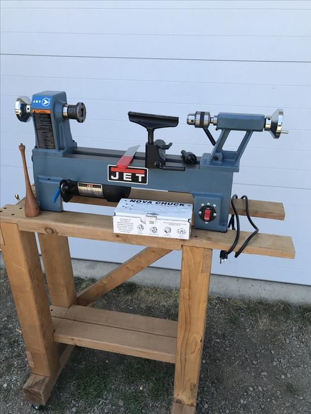 "Jet H/D 14"" lathe with a 10"" swing plus drill chuck ,live"