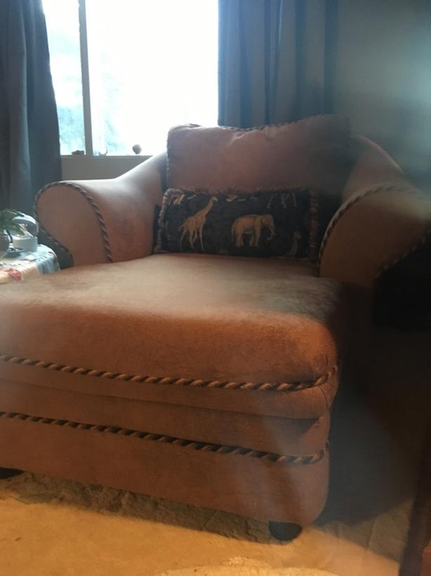 FREE: Couch + Ottoman = Chaise lounge