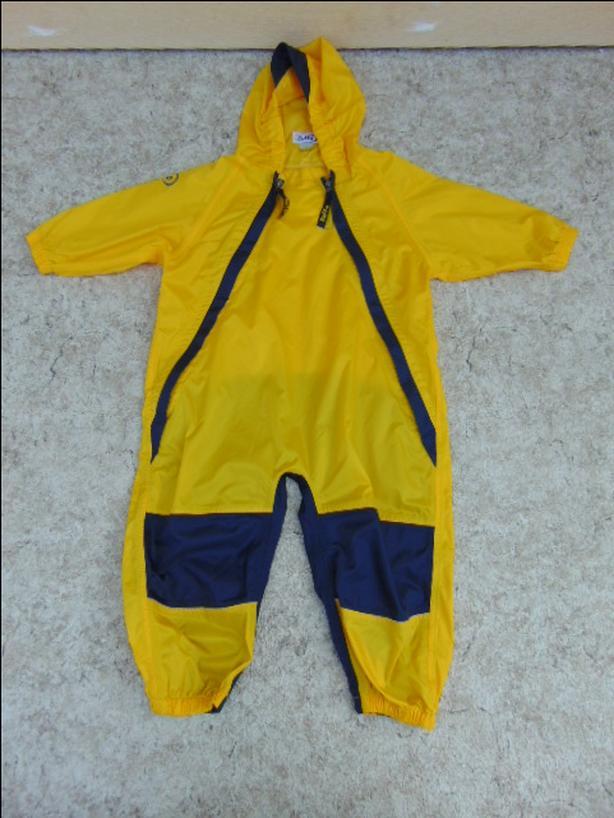 Rain Suit Size 2 Muddy Buddy Tuffo Pants Coat Yellow and Navy Blue