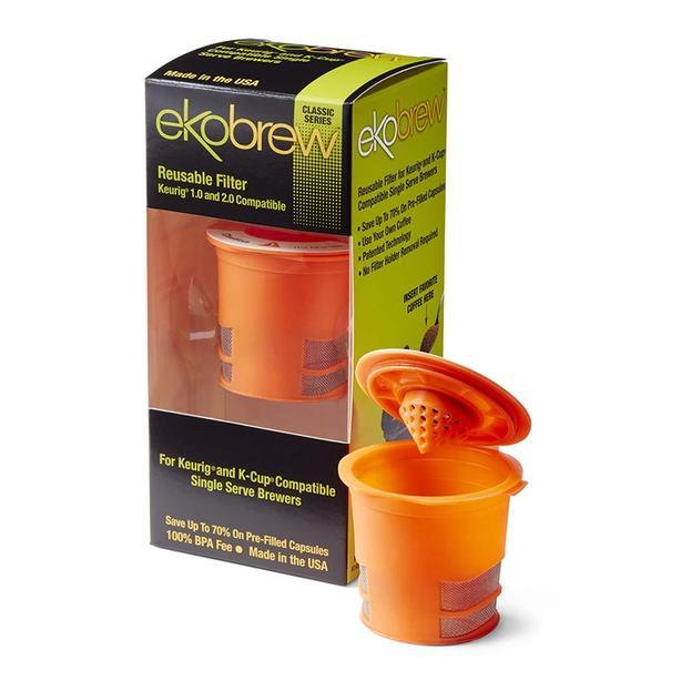 EKOBREW Reusable K-Cup Filter Pod - Orange