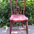 Cool Old Wooden Vintage  Dining Chair for Back to School