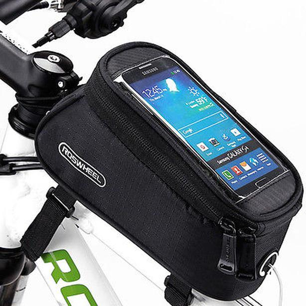 "Bicycle Bike Frame Phone Bag - 1.7L 5.5"" - Black"