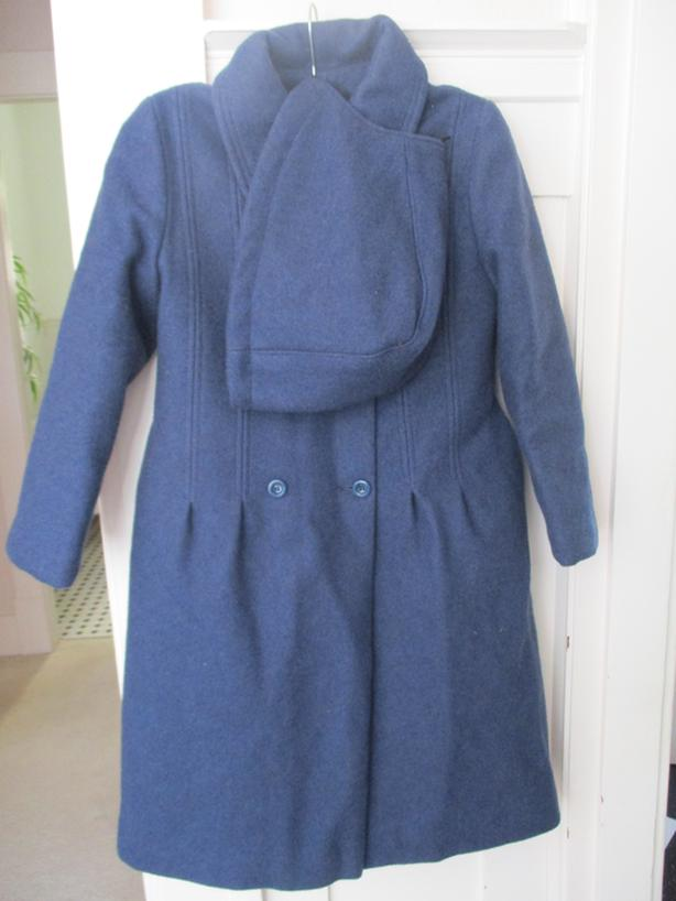 Brand New Wool Blend Young Girl's Coat With Hood