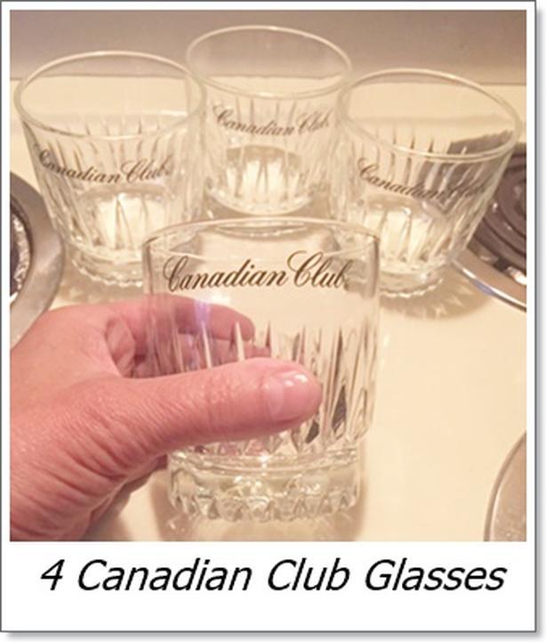 Canadian Club Whiskey Glasses