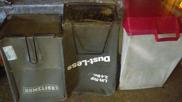 $20 ea - 2 older Craftsman Bags & 1 Toro bag