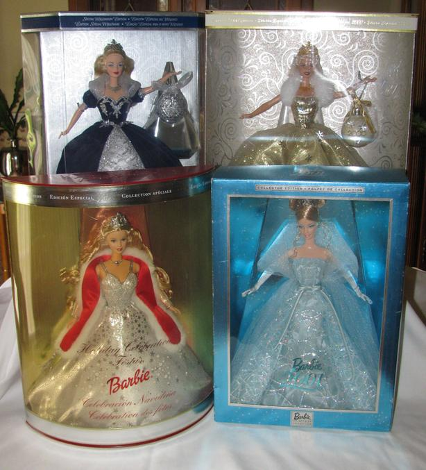 Barbie Doll Collection 2000&2001 (4 Diff) Millennium Original Box