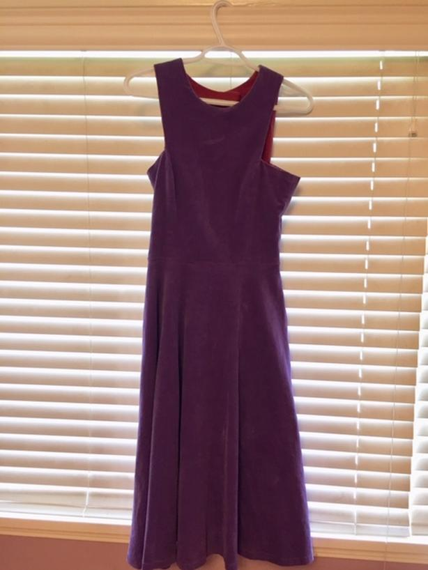 Purple Velvet Handmade Dress