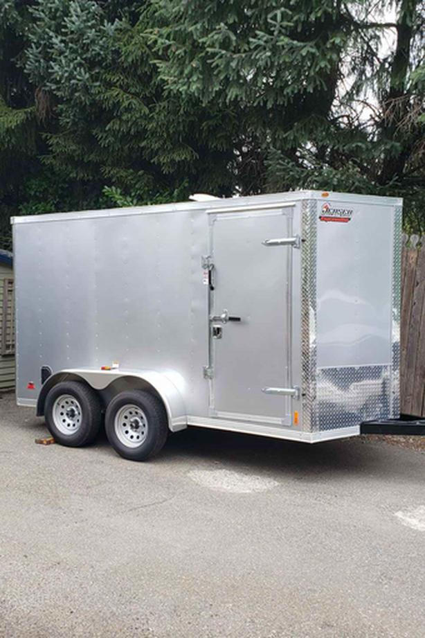 2019 - 6x12 Enclosed, Ramp door