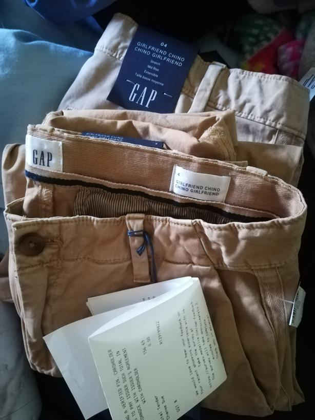 Khakis Chinos pants GAP light and dark beiges