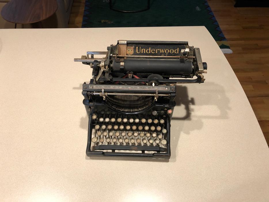 $70 · Underwood typewriter