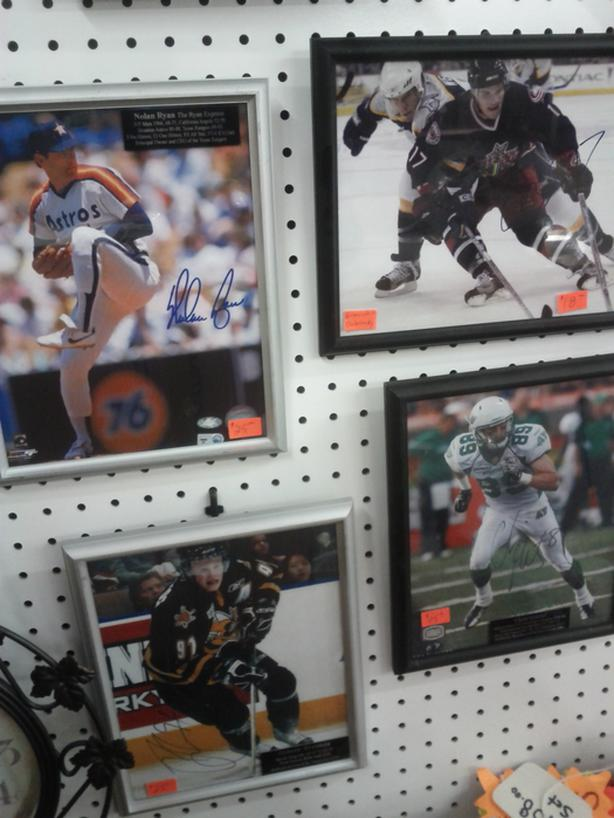Various Framed Sports Athletes