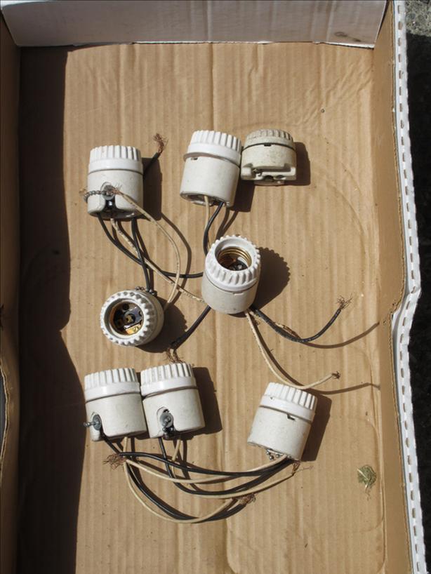 Vintage Ceramic light bulb sockets - $10
