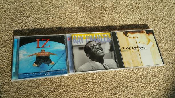 Various CDs: Iz, Ray Charles & Chantal Kreviazuk