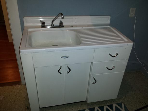 Antique Vintage Retro 1940s Metal Kitchen Cabinets Enamel Sink Victoria City Victoria Mobile