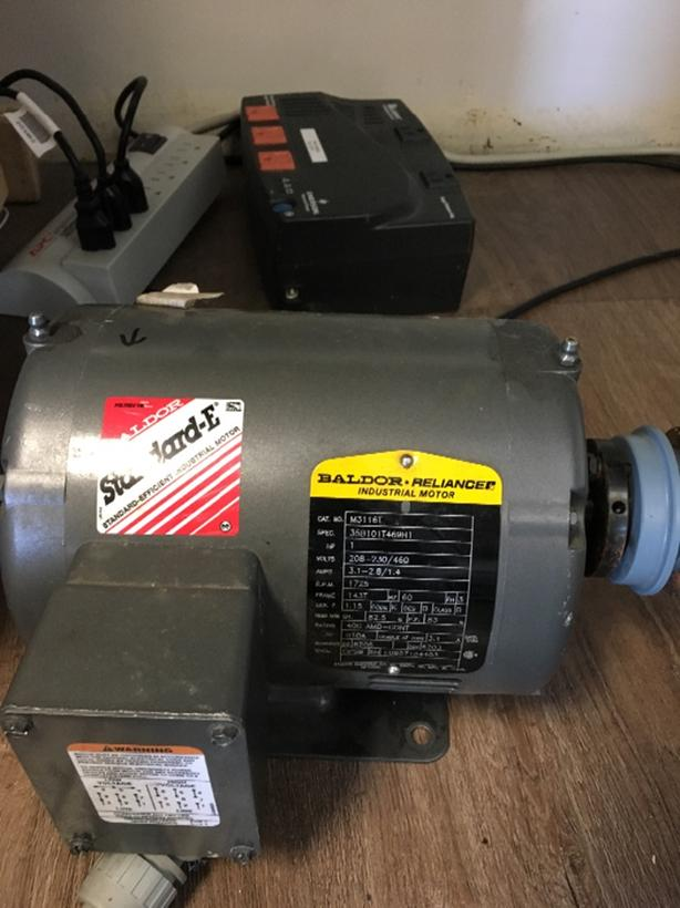  Log In needed $200 · Baldor 1 horse 3 phase motor half of new, low hours