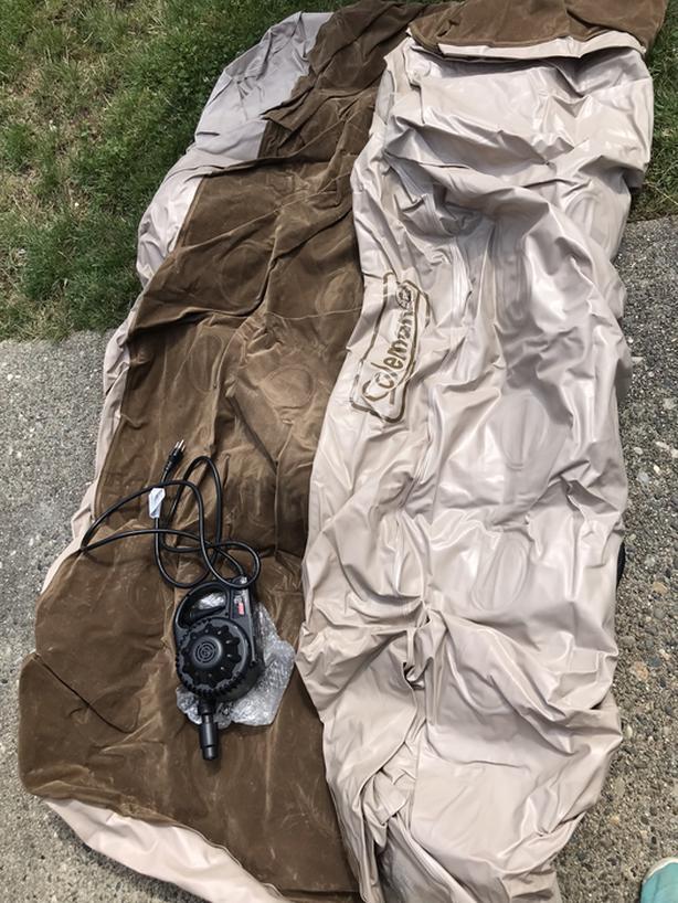 Coleman air mattress with pump