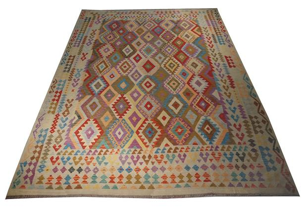 "Handmade Traditional Afghan Area Rug 11'4"" x 8'0"""