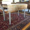 Antique Pine Farmhouse Drop Leaf Table