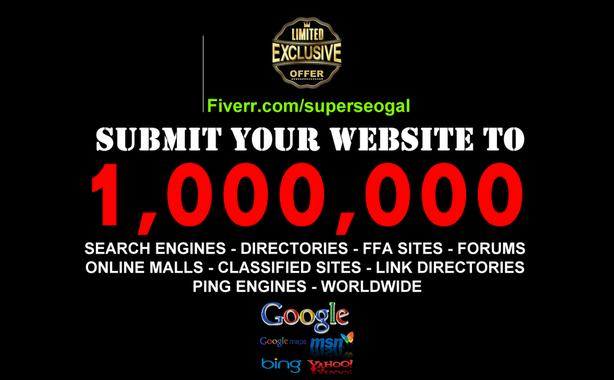 $10 · SUBMIT YOUR URL TO OVER A MILLION SEARCH ENGINES