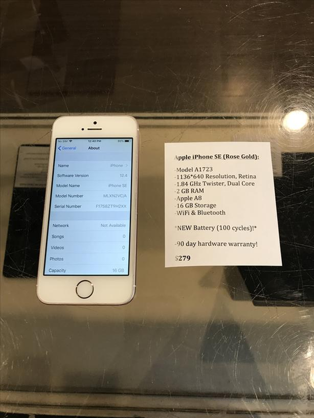 UNLOCKED iPhone SE Rose Gold 16 GB w/ Warranty!