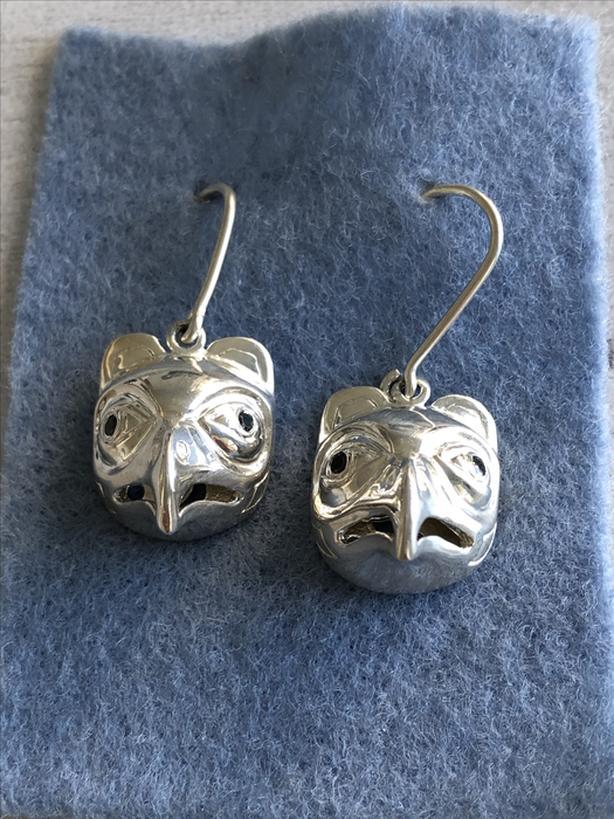 Sterling Silver Thunderbird Ear Rings