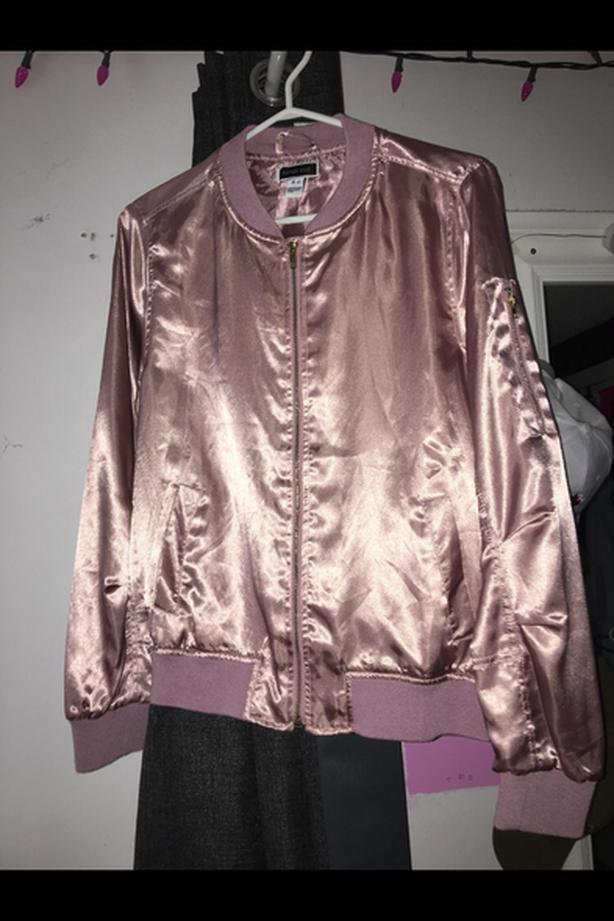 Pink Metallic Spring Jacket