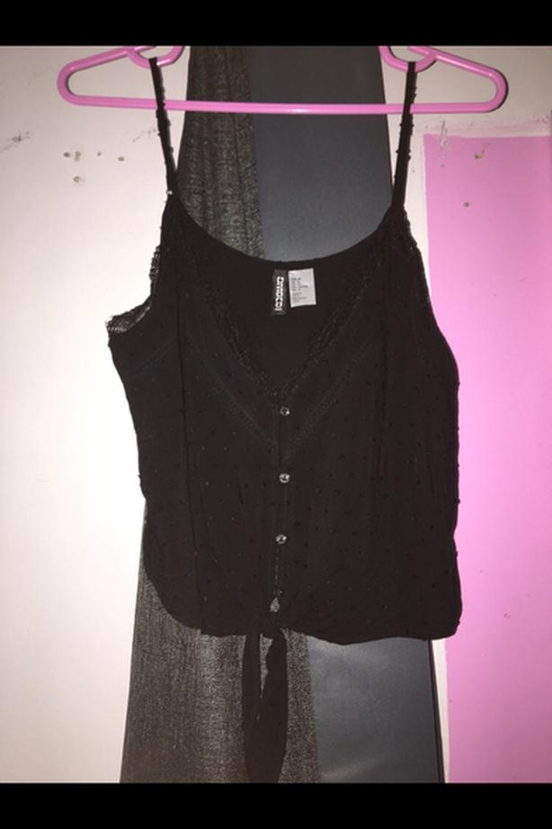 H&M Black Cami Top