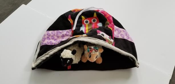 New Hidey/Snuggle Bed for Rats/Guinea Pigs/Ferrets/Gerbils LARGE 18 x 12 inches