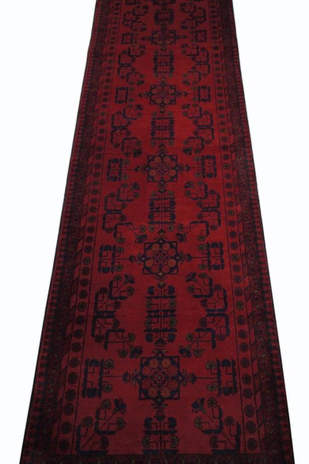 """Handmade Traditional Afghan Area Rug 9'4"""" x 2'8"""""""
