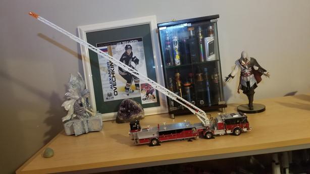 Seagrave diecast firetruck