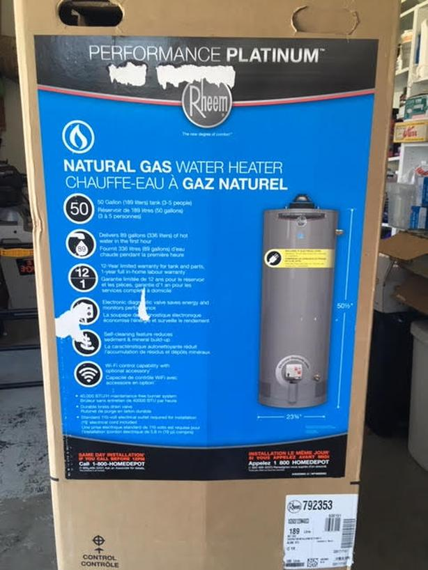 New Gas Fired Water Heater