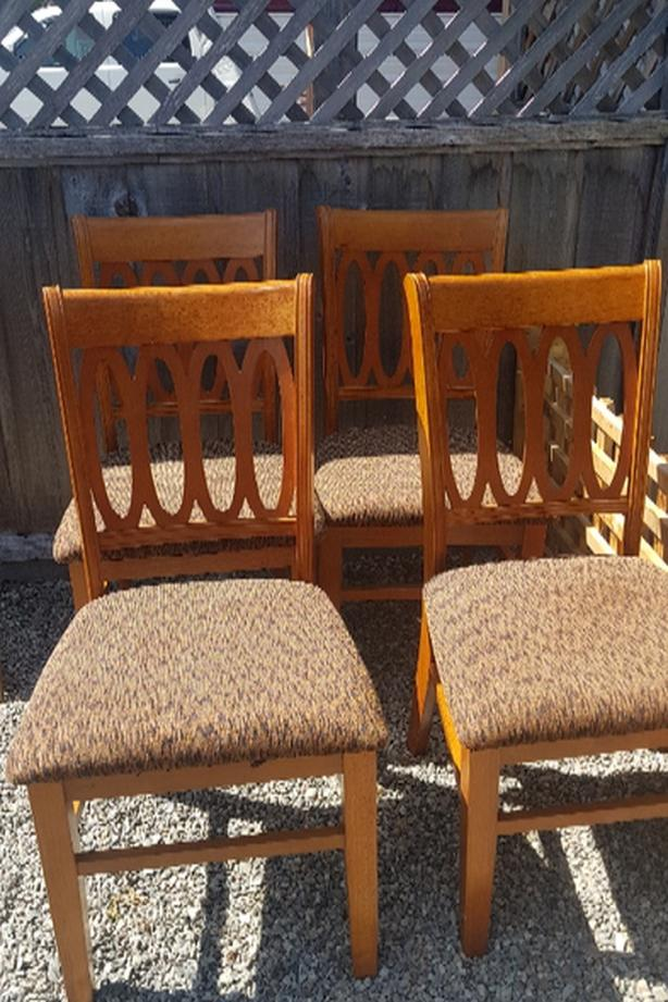 solid wood chairs with storage