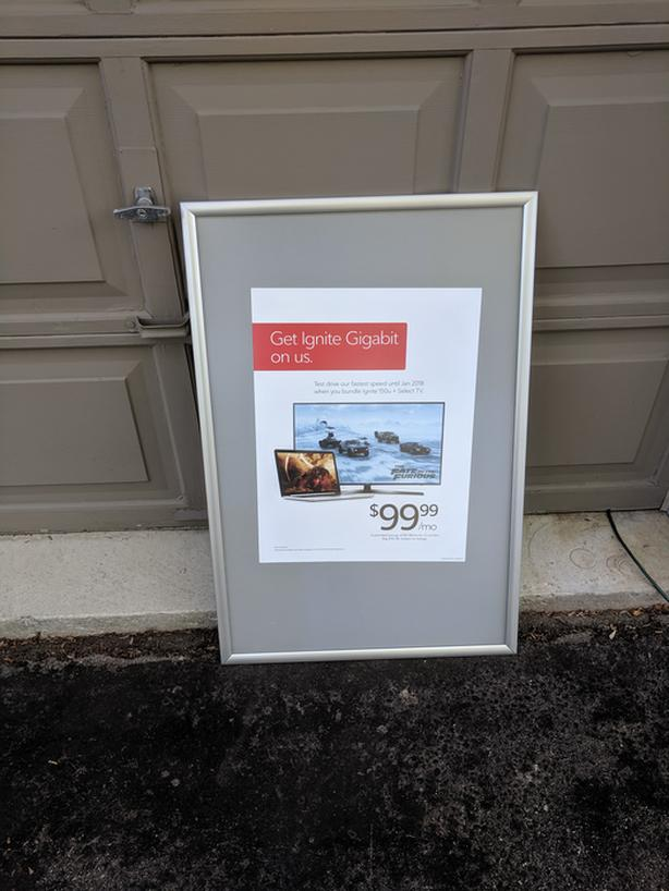 Poster Display Sign Aluminum Snap Frame Water Resistant