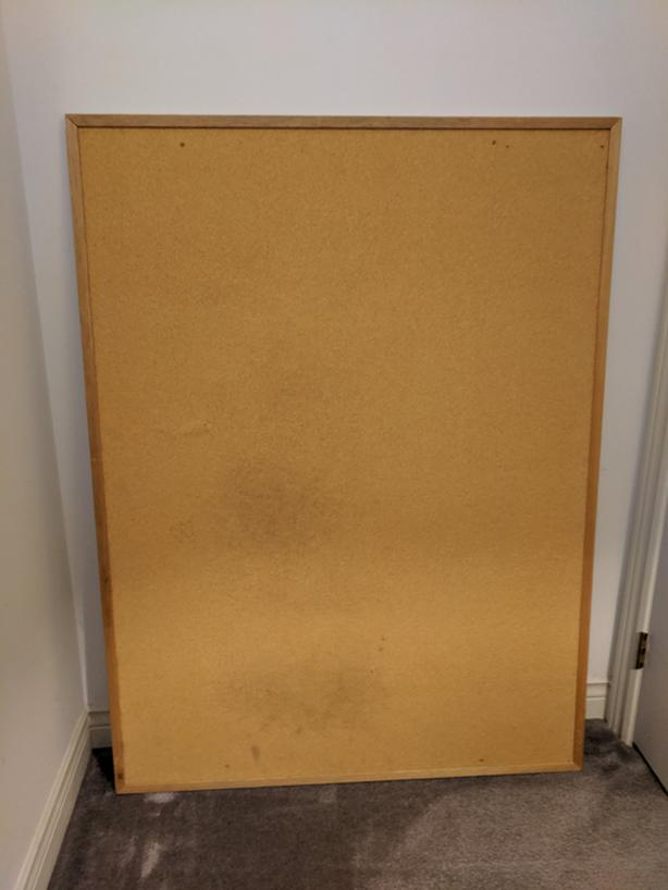 Bulletin Board / Cork Board 3' X 4' Ft Wooden Frame