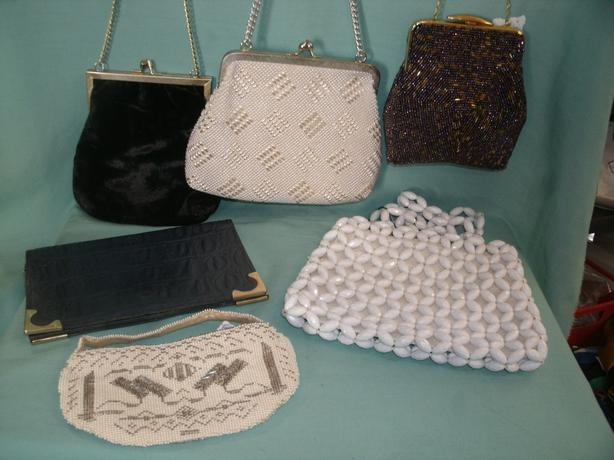 Vintage Handbags & Purses Bead Bags / Leather Clutch etc
